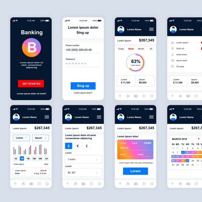 BAM by Design Banking Mobile Application UX UI