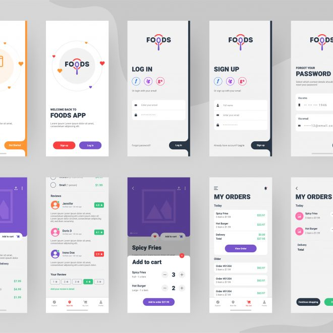 BAM by Design Mobile Food Application UX UI