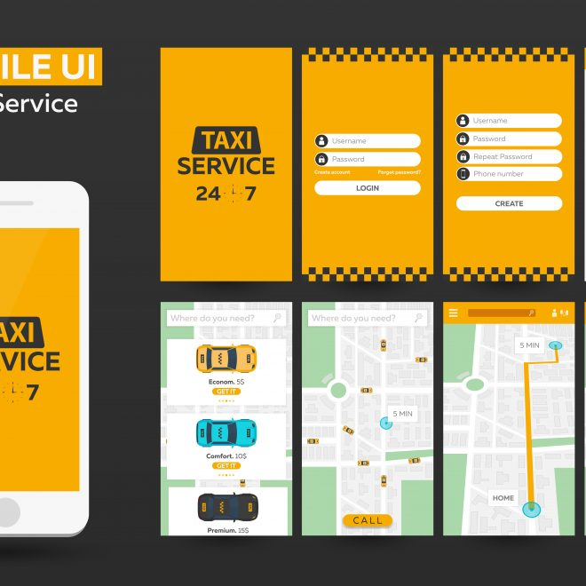 BAM by Design Taxi Service Mobile Application UX UI